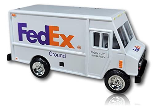 """FedEx Ground Miniature Delivery Truck - 3"""" Length - Scale 1:64 - Gauge S"""
