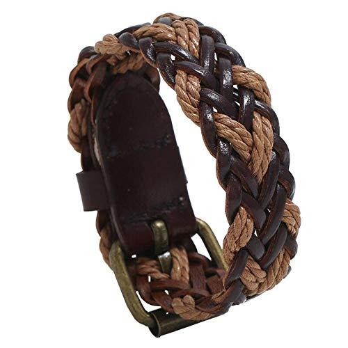 Jubuk Herenarmband, vintage retro leer, gevlochten touw, casual wrap, geweven, armband, riem, etnische vrouwen sieraden