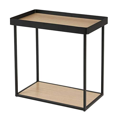 Huahua stoel salontafel bank smal nachtkastje tafel ijzer vierkante zijtafels met opslag plank kleine einde tafel slaapkamer nachtkastje