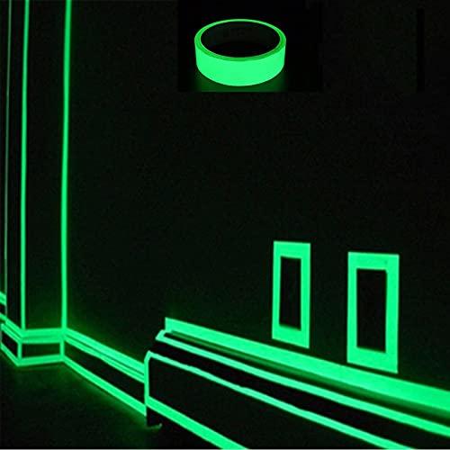 Adhesivo de Pared con Cinta Que Brilla en la Oscuridad, Cinta Luminosa Familiar para Bricolaje, calcomanías murales extraíbles Autoadhesivas, Adhesivos para el Piso del Coche(5M) (1)