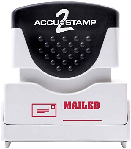 ACCUSTAMP2 Message Stamp with Micro ban Protection, MAILED, Pre-Ink, Red (035586)