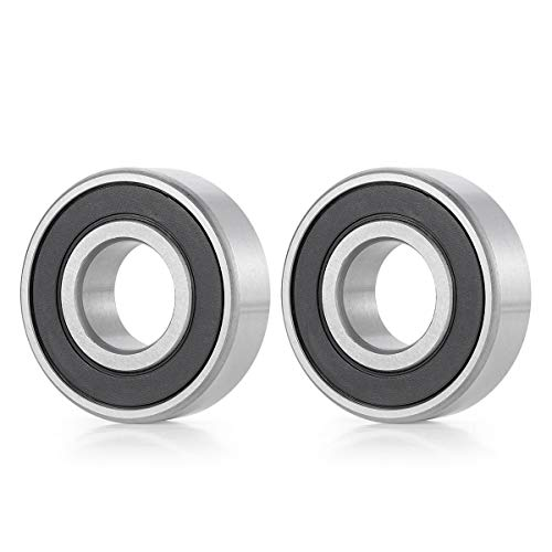 """Donepart R16-2RS Bearings 1 Inch ID x2 Inch OD x1/2"""" Thick C3 High Speed Pre-Lubricated and Double Rubber Sealed Ball Bearings (2 Pcs)"""