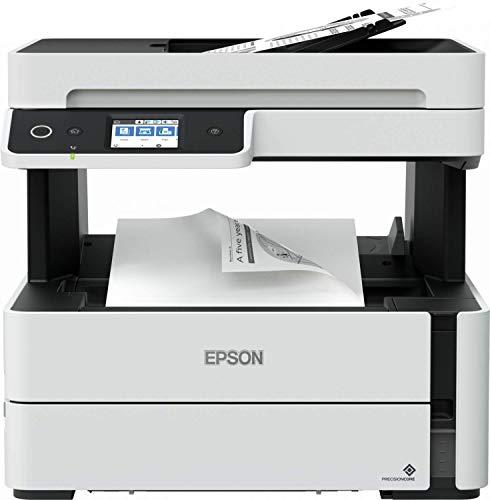 Epson Ecotank Et-M3140 Stampante Monocromatica 4-In-1, Stampa Fino a 11000 Pagine, Risparmio Energetico, Stampa di Alta Qualità, Touch-Pad da 6.1 Cm, Flaconi Inchiostro Inclusi, Bianco
