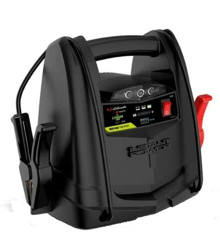 Great Features Of Portable 12V Power Jump Starter Jumper Pack Booster 1000 Amps SL1397 USB Charger