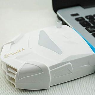 JHMJHMJHM مروحة تبريد جانبية لجهاز الكمبيوتر ZT-X7 3.6 وات مع وسادة قابلة للإزالة وأضواء ملونة (أسود مكونات داخلية ابيض