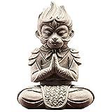 XDYFF Rey Mono Figura Estatua, Sun Wukong Esculturas Pecera Decorativa, Acuario, Oficina En Casa Decoracion Adornos, Regalo,A