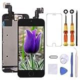 Brinonac Pantalla para iPhone 5s/se, 4.0' Pantalla Táctil LCD con botón de Inicio,Cámara Frontal, Sensor de proximidad, Altavoz, ensamblaje de Marco digitalizador y Kit de reparación (Blanco)