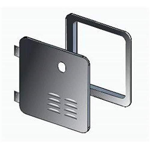 Girard 2GWHDAS10B Door/Flange Assembly Conversion - Atwood/Suburban 10-Gallon, Black