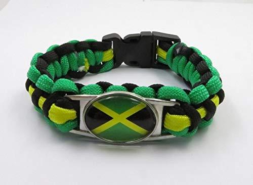 Minyose Pulsera De Jamaica Moda Bandera De Jamaica Pulseras Trenzadas Encantadora Jamaica Hombres Y Mujeres Joyería