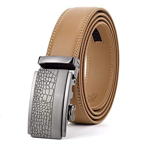 YWSZY Cinturones Piel Hombre Automático For Hombre De La Hebilla del Cuero...