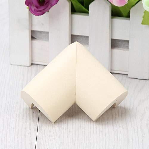 8pcs / lot 55 * 55mm Soft Table Corner Protector Protection de la sécurité du bébé pour les enfants Enfants Safety Corner Bumper Office Products, beige