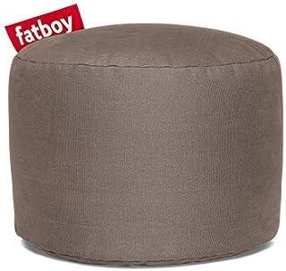 Fatboy® Point Pouf Stonewashed Coton | Pouf/Repose-Pieds/Guéridon Tendance | Taupe | 35 x ø 50 cm