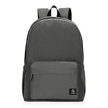 Hynes Eagle Lightweight School Backpack Classic Bookbag for Girls Boys Grey