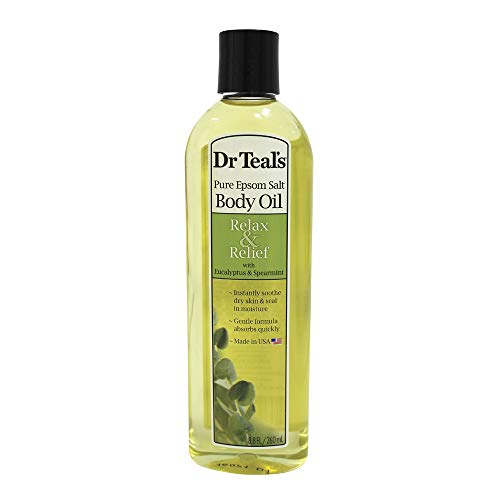 Dr Teal's Moisturizing Bath & Body Oil, Eucalyptus & Spearmint , 8.8 Fluid Ounce