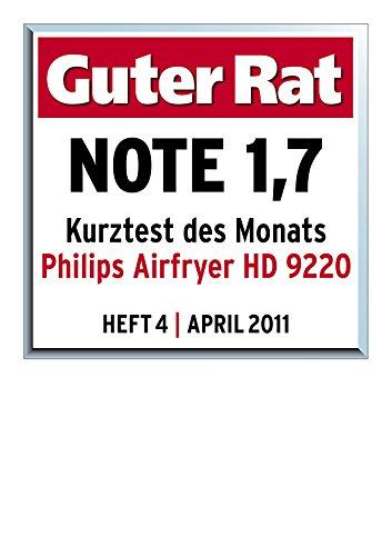 Philips HD9220/20 Airfryer Heißluftfritteuse, 1425 W, schwarz - 5