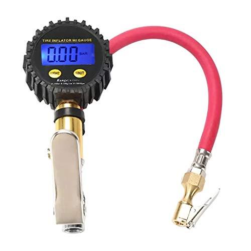 NXYJD Digital neumático inflador de presión medidor de presión 200psi Pantalla LCD de Aire compresor de Aire Conecte rápido para la Motocicleta del automóvil