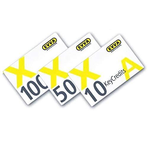 EVVA KeyCredits für AirKey und Xesar, Pay-per-Key, 100 Stück für 100 Zutrittsberechtigungen