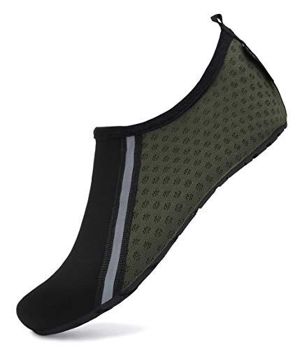 SAGUARO Escarpines Agua Hombre Escarpines Piscina Mujer Secado Rápido Antideslizante Zapatos para Deportes Acuaticos 031 Verde Oscuro Gr.36/37