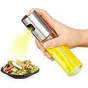 BRAND CENTER Olive Oil SprDayer, Food-Grade Stainless Steel Glass Oil SprDay Bottle Vinegar Bottle Oil Dispenser Best for Cooking, Salad, BBQ, Kitchen Baking, Roasting