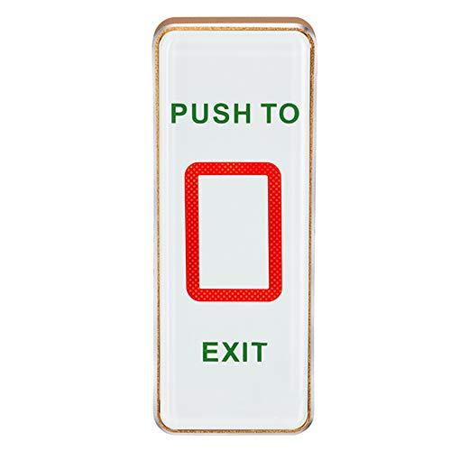UHPPOTE Botón piezoeléctrico de la salida del tacto del lanzamiento de la puerta con la luz del LED para el control de acceso