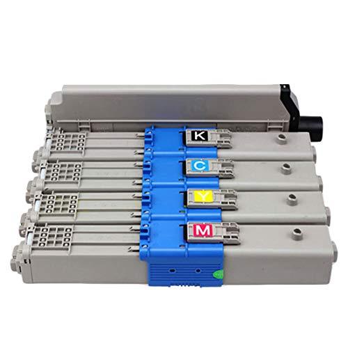 YBCD Cartucho de tóner MC561, Compatible Oki MC561 562dnw MC562dn Color láser Printe, 44469803 44469806 44469805 44469804 Toner de Alta Capacidad-All