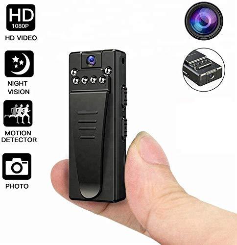 Mini-spioncamera, HD 1080P draadloze microcamera draagbare videorecorder met clip/nachtzicht/bewegingsdetectie, verborgen beveiligingscamera's voor thuis en op kantoor (Size : Without 32G Card)