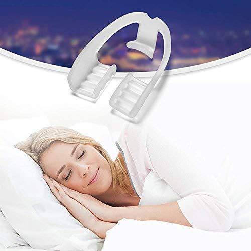 AISE 2 STÜCKE Lebensmittelqualität Schlafmittel Werkzeug Bruxismus Schiene Eliminierende Zahnknirschen Mundpflege Zahnspange Zahngesundheit Zahnschutz