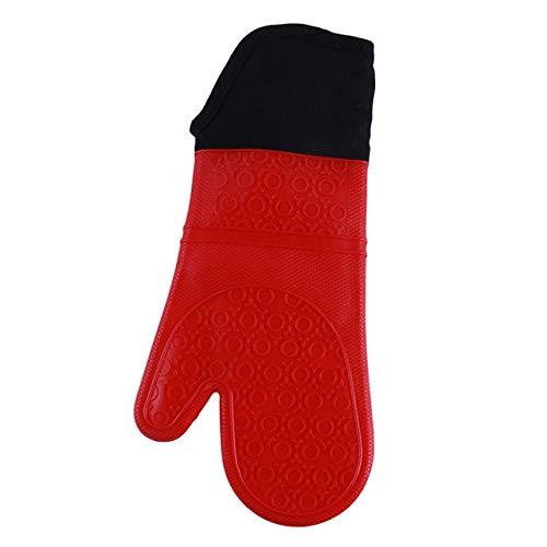 Hittebestendige siliconen handschoenen, voor grill, keuken, magnetron, oven, handschoenen met handschoenen en ovenwanten