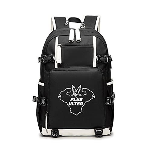 WWZY Mochila Escolar para Estudiantes niñas y niños Anime My Hero Academia Backpack Bolsa de Escuela con Puerto de Carga USB Knapsack para Ordenador portátil,B