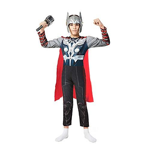 FINDPITAYA Avengers Disfraz Thor Nios Cosplay Costume con Martillo y mscara (M 120cm-130cm)