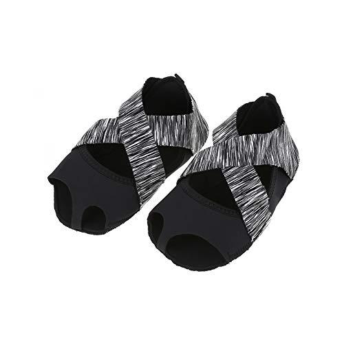 Yoga Socken Anti Rutsch für Damen, Non Slip Yoga Grip Socken Yoga Pilates Socken mit Griffen Barre Soft Wrap Tanz Trainingsschuhe mit Zehen für Pilates Ballett Barre Studio Bikram Männer(S(35-36))