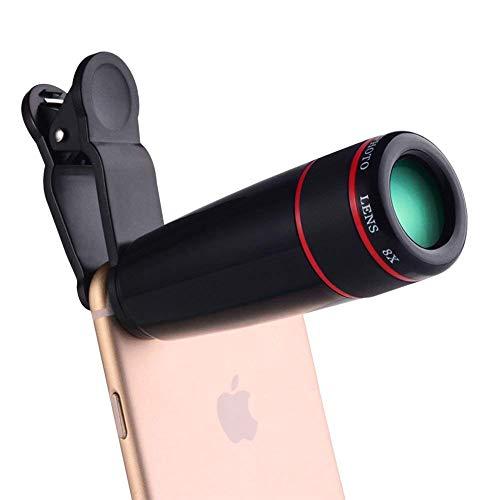 JYTFDJ 8X mobiele telefoon monokular, mobiele telefoon vergrootglas, gemakkelijk te dragen videocamera, instelbare brandpuntsafstand