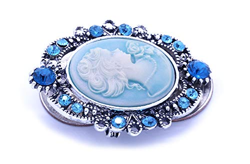 Soulbreezecollection Cameo Brooch Pin Charm Women Necklace Pendant Compatible Rhinestones Fashion Jewelry 5