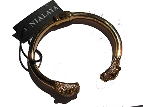 Nialaya Unisex-Armband 925 Silber - WBANG_042 - M - Armreif Panther