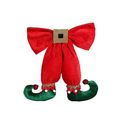 Miss-an Weihnachtsmann Ornamente, europäischen und amerikanischen Stil Nette Elf Fuß Form Bowknot Weihnachtsdekoration Anhänger Hotel Christbaumschmuck