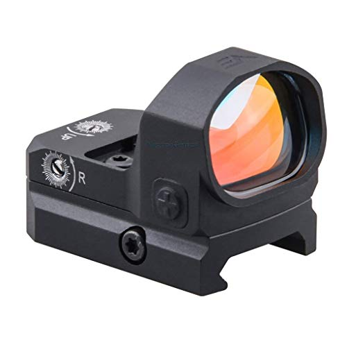 Vector Optics Frenzy 1x17x24mm Tactical Red Dot Sight with TRI and VT Footprint, Red Illuminated Reticle, 3 MOA Dot Size, 8 Levels of Illumination & 2 Levels of NV