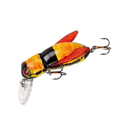 Rebel Lures Bumble Bug Topwater / Crankbait Fishing Lure, 1 1/2 Inch, 7/64 Ounce, Hornet