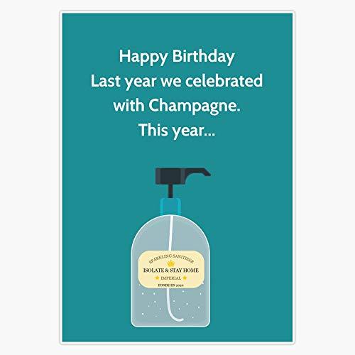 Funny Birthday - CoronaVirus Card - Quarantine Decal Vinyl Bumper Sticker 5'