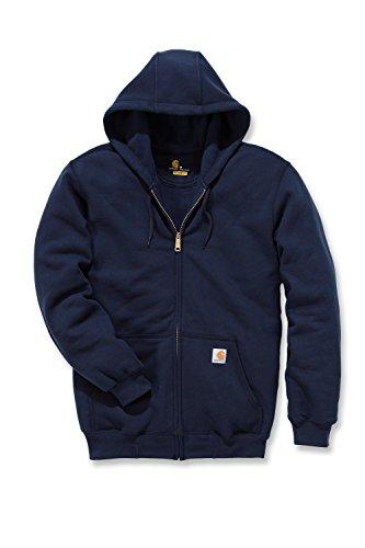 Carhartt K122 Midweight Hooded Zip Front Sweatshirt - Kapuzenjacke (M, dunkelblau)