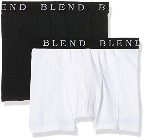 Blend Herren Boxershorts Underwear, 2er Pack, Mehrfarbig (Black/White 70999), Large