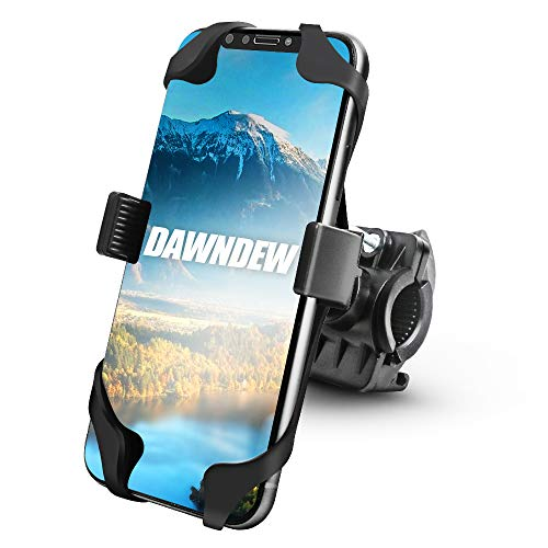 Bike Phone Mount Holder - Universal Bicycle Phone Mount Motorcycle 360°Rotation Anti Shake Silicone Phone Holder for iPhone Max Xr Xs X Pro 11 8 7 Plus Samsung