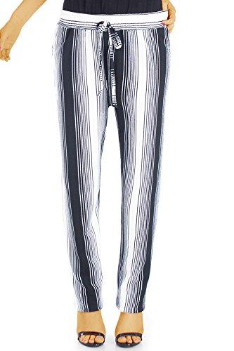 bestyledberlin Damenhosen, Pluderhose sommerlich mit weitem Schnitt j46l L-XL Muster 2