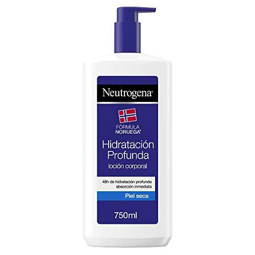 Neutrogena - Hidratación profunda, loción corporal con perfume muy ligero para pieles secas, 750 ml