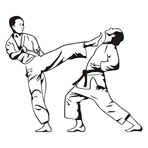 Wandtattoo, Karate Kick Judo Jiu Jitsu Extremsport