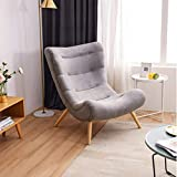 YLCJ Folding Floor Chair Adjustable Folding Floor Chair Lazy Couch seat Cushion Lazy Office Reading Watching Movies-Grey