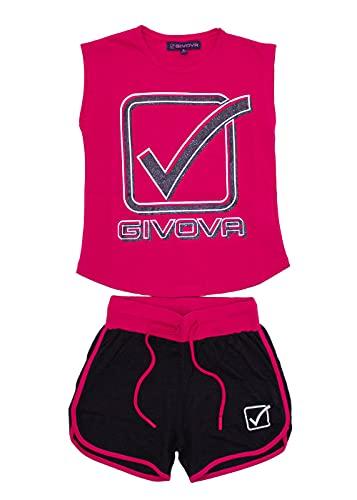 givova - Mono de verano de algodón para niña compuesto por camiseta sin mangas y bermuda, disponible en diferentes variantes