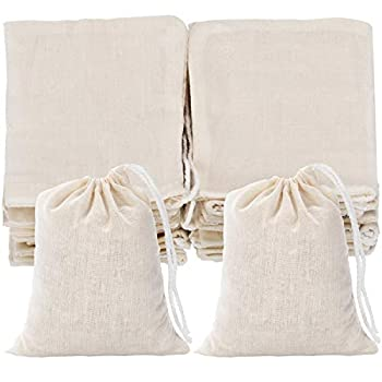 Tatuo 50 Pieces Drawstring Bags Muslin Bag Sachet Bag for Home Supplies  3 by 4 Inches