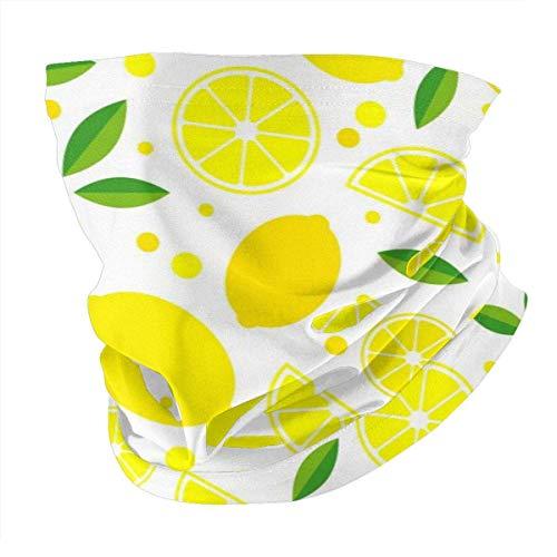 Dingjiakemao Bandana Frauen Bandanas Gesichtsmaske, Sommer Zitrone Frucht Mit Blättern Hals Gamasche Maske Stirnband Für Männer Gesicht Schal Staub/Outdoor/Sport