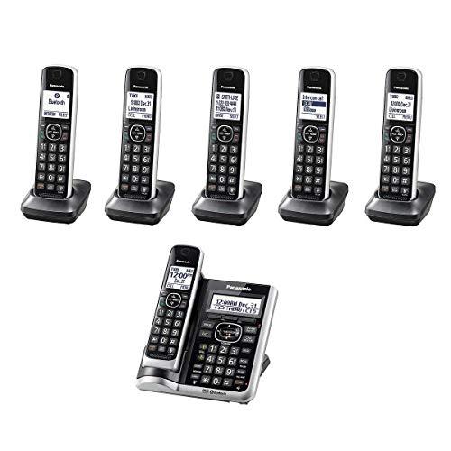 Panasonic KX-TGF676B ( 6 Handset ) Cordless Phone with Answering System Bluetooth Link2Cell DECT 6.0 - Base KX-TG885SK , H/S KX-TGFA61B (Renewed)