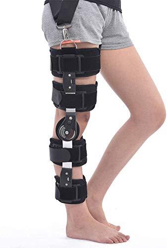 MAQRLT Verstellbare Kniegelenk-Fixierbandage für Bänder, Verstauchungen, Kniegelenk-Fixierung, für linkes Bein.